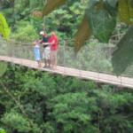 Bridge over Calovebora River  in Santa Fe National Park